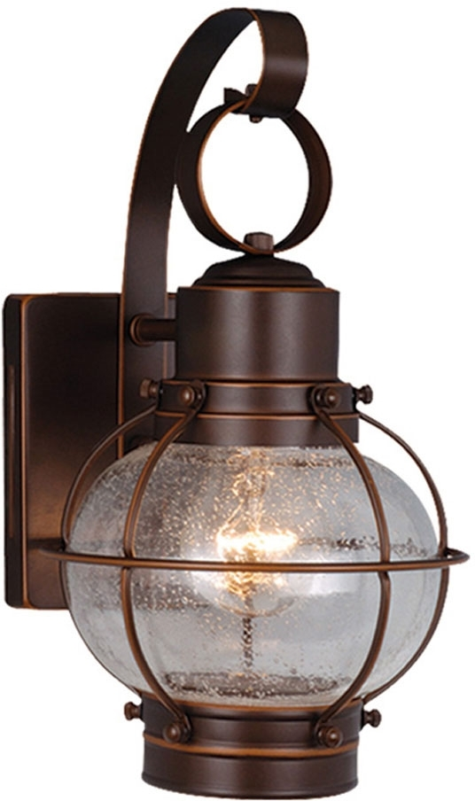 Vaxcel Ow21861Bbz Chatham Nautical Burnished Bronze Finish 7.25 with Nautical Outdoor Wall Lighting (Image 10 of 10)