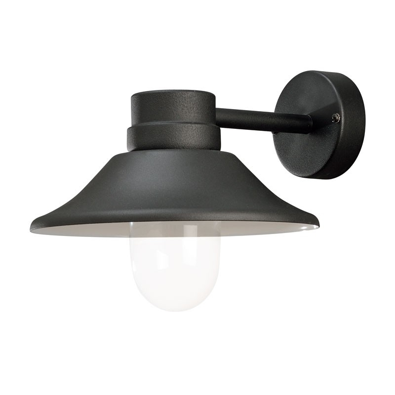 Vega Led Wall Light - Matt Black - Lighting Direct inside Outdoor Wall Lights in Black (Image 10 of 10)