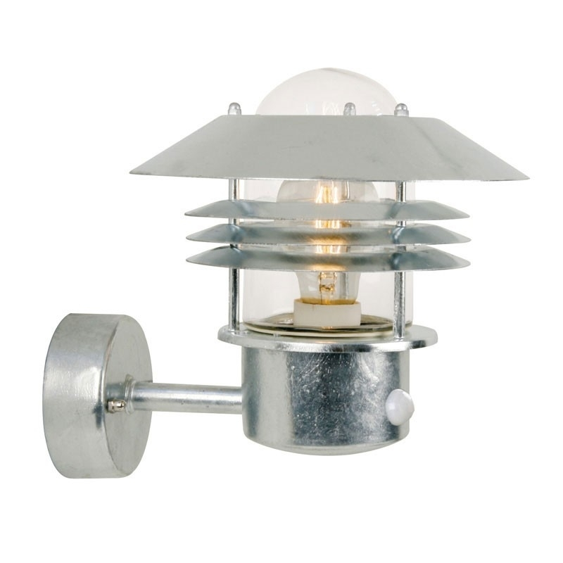 Vejers Pir Wall Lamp - Galvanised - Lighting Direct regarding Outdoor Wall Lighting With Sensor (Image 10 of 10)