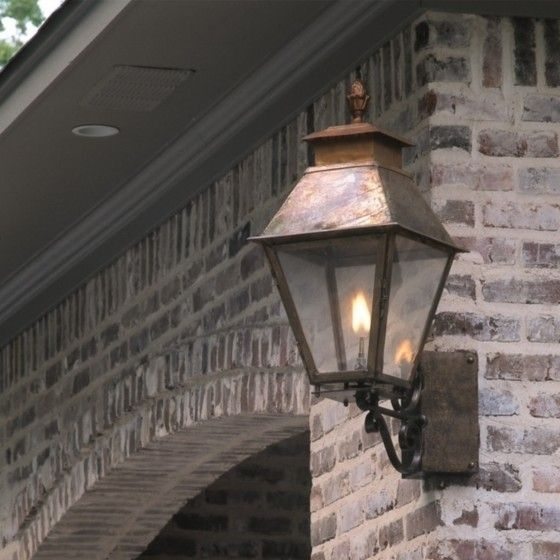 Vicksburg Wall Mounted Lantern With Corner Bracket | Outdoor in Outdoor Wall Mount Gas Lights (Image 10 of 10)