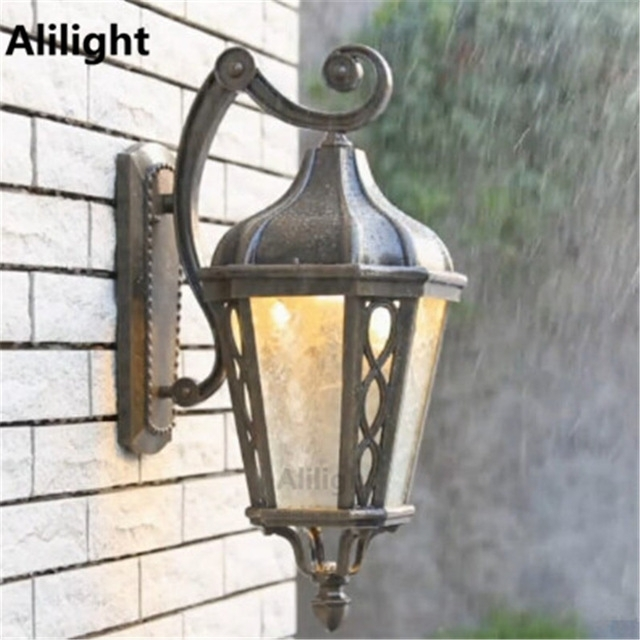 Vintage High Quality Outdoor Lighting Wall Light Metal Garden Porch throughout Quality Outdoor Wall Lighting (Image 10 of 10)