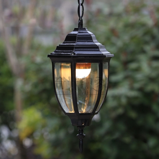 Vintage Outdoor Pendant Lights Courtyard Corridor Hanging Lighting intended for Outdoor Rated Hanging Lights (Image 9 of 10)