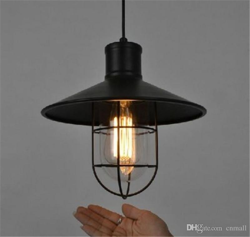 Vintage Wrought Iron Pendant Lighting Chandeliers Edison Bulb For regarding Outdoor Iron Hanging Lights (Image 8 of 10)