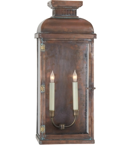 Visual Comfort Cho2066Nc E. F. Chapman Suffork 2 Light 24 Inch throughout Outdoor Wall Lantern Lights (Image 10 of 10)