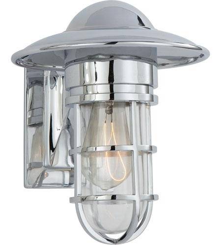 Visual Comfort Slo2001Ch-Cg E. F. Chapman Marine 1 Light 11 Inch for Chrome Outdoor Wall Lighting (Image 9 of 10)