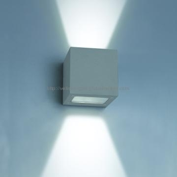 W3A0019, China Square Aluminum 2(3X1)W Led Ip54 Outdoor Wall Light in Square Outdoor Wall Lights (Image 10 of 10)