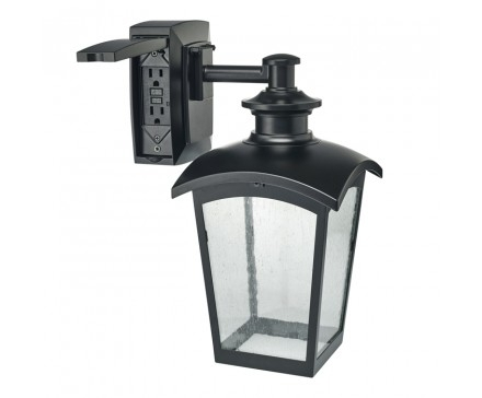 Wall Lantern With Built-In Electrical Outlet (Gfci) | L'image Home within Outdoor Wall Lights With Gfci Outlet (Image 10 of 10)