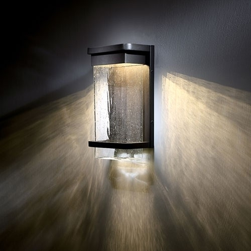 Wall Lights Design Kichler Led Outdoor Wall Light In Commercial for Best Outdoor Wall Led Lights (Image 10 of 10)