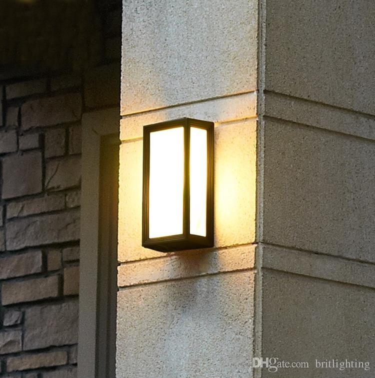 Wall Sconce Outdoor Lighting Wall Lamps Waterproof Exterior Outdoor with regard to Plastic Outdoor Wall Lighting (Image 10 of 10)