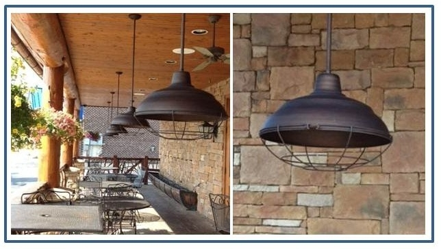 Warehouse Pendants Boost Rustic Ambiance At Nc Restaurant | Blog regarding Outdoor Hanging Barn Lights (Image 10 of 10)