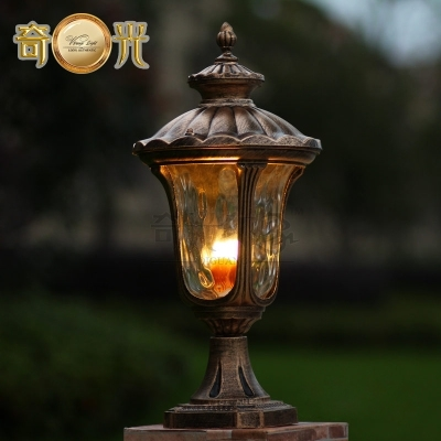 Waterproof Garden Pillar Light Fitting Aluminum 220V/110V Bronze with regard to Outdoor Wall And Post Lighting (Image 10 of 10)