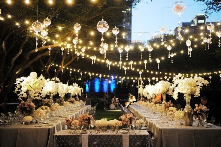 Wedding Decoration Ideas: Outdoor Wedding Lights Decorations With in Outdoor Hanging Party Lanterns (Image 10 of 10)