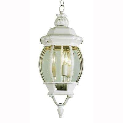 White – Adjustable Height – Outdoor Lanterns – Outdoor Hanging Throughout White Outdoor Hanging Lights (View 8 of 10)