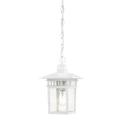 White Outdoor Hanging Lighting | Bellacor In White Outdoor Hanging Lights (View 3 of 10)