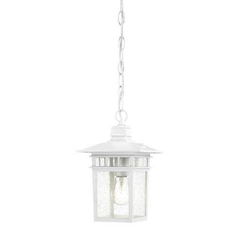 White Outdoor Hanging Lighting | Bellacor intended for White Outdoor Hanging Lanterns (Image 10 of 10)