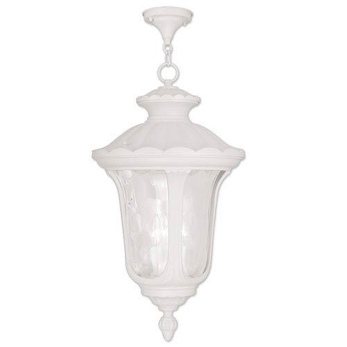 White Outdoor Hanging Lighting | Bellacor Pertaining To White Outdoor Hanging Lights (View 5 of 10)