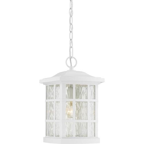 White Outdoor Hanging Lighting | Bellacor Within White Outdoor Hanging Lights (View 2 of 10)