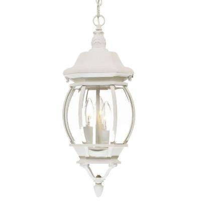 White - Outdoor Hanging Lights - Outdoor Ceiling Lighting - The Home regarding White Outdoor Hanging Lanterns (Image 4 of 10)
