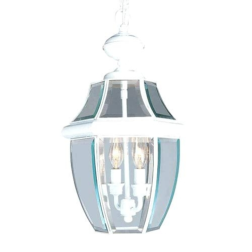 White Outdoor Lantern Lights White Two Light Outdoor Fixture White Throughout White Outdoor Hanging Lights (View 10 of 10)