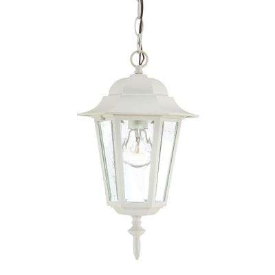 White - Outdoor Pendants - Outdoor Hanging Lights - Outdoor Ceiling throughout White Outdoor Hanging Lanterns (Image 7 of 10)