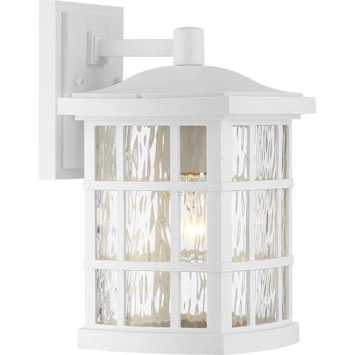 White Outdoor Wall Lighting | Bellacor for White Outdoor Wall Lights (Image 8 of 10)