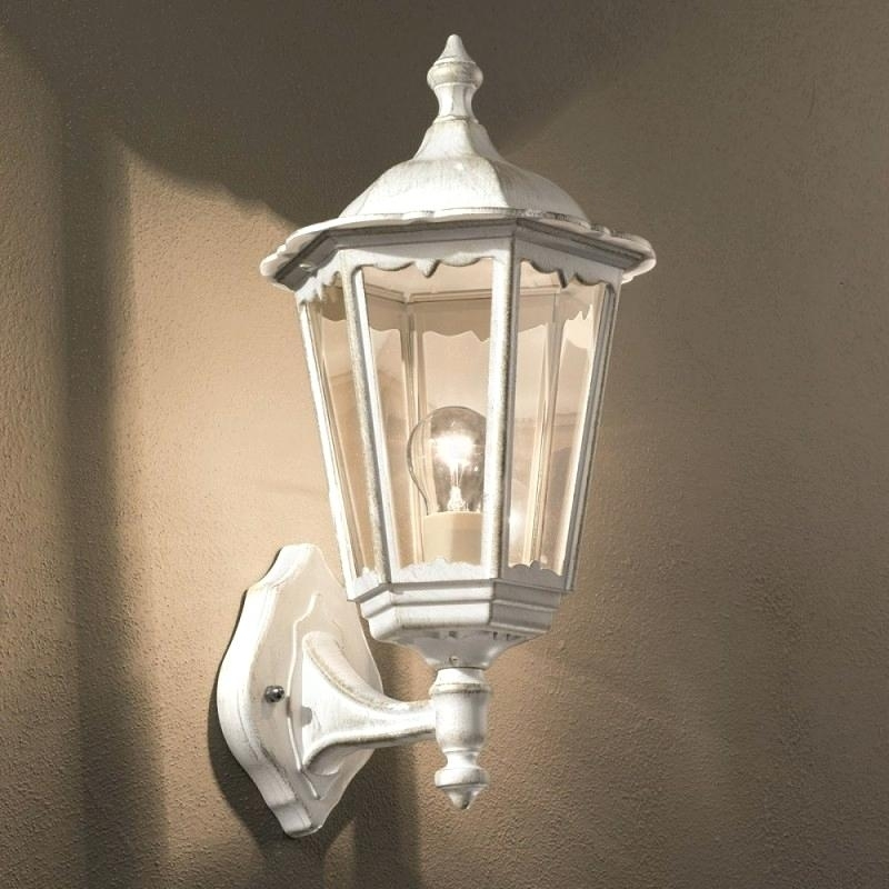 White Outdoor Wall Lights Wall Mount Outdoor White Led Floodlight within White Outdoor Wall Lighting (Image 10 of 10)
