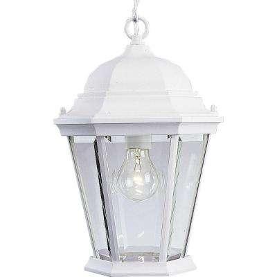 White - Progress Lighting - Outdoor Hanging Lights - Outdoor Ceiling for White Outdoor Hanging Lanterns (Image 8 of 10)
