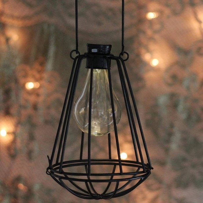 Williston Forge Wilson Solar Powered 1 Light Led Outdoor Hanging Intended For Solar Powered Outdoor Hanging Lanterns (View 10 of 10)