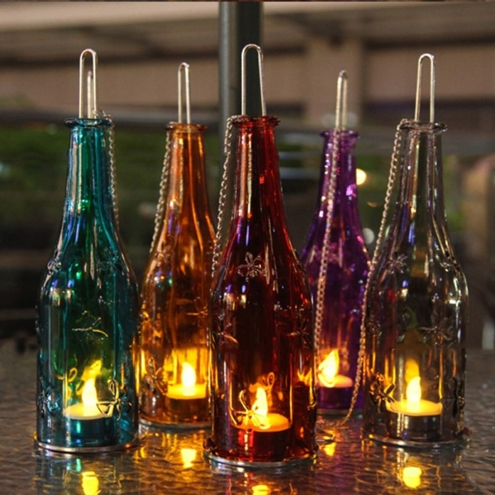 Wine Bottle Outdoor Lamp – Outdoor Designs Within Making Outdoor Hanging Lights From Wine Bottles (View 10 of 10)
