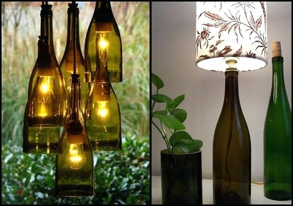 Wine Bottle With Lights Inside Wine Bottles With Lights Inside Diy Throughout Making Outdoor Hanging Lights From Wine Bottles (View 9 of 10)