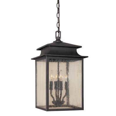 World Imports - Sutton Collection Rust 4-Light 12 In. Hanging in Outdoor Hanging Lanterns From Canada (Image 10 of 10)