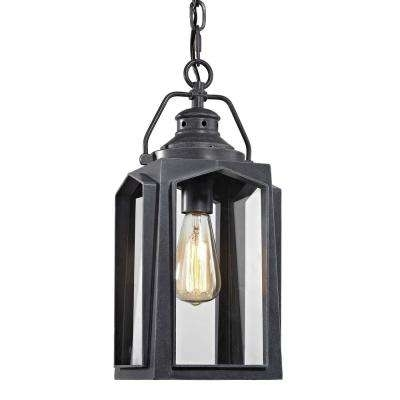 Wrought Iron - Outdoor Pendants - Outdoor Ceiling Lighting - Outdoor with Outdoor Hanging Lights at Home Depot (Image 9 of 10)