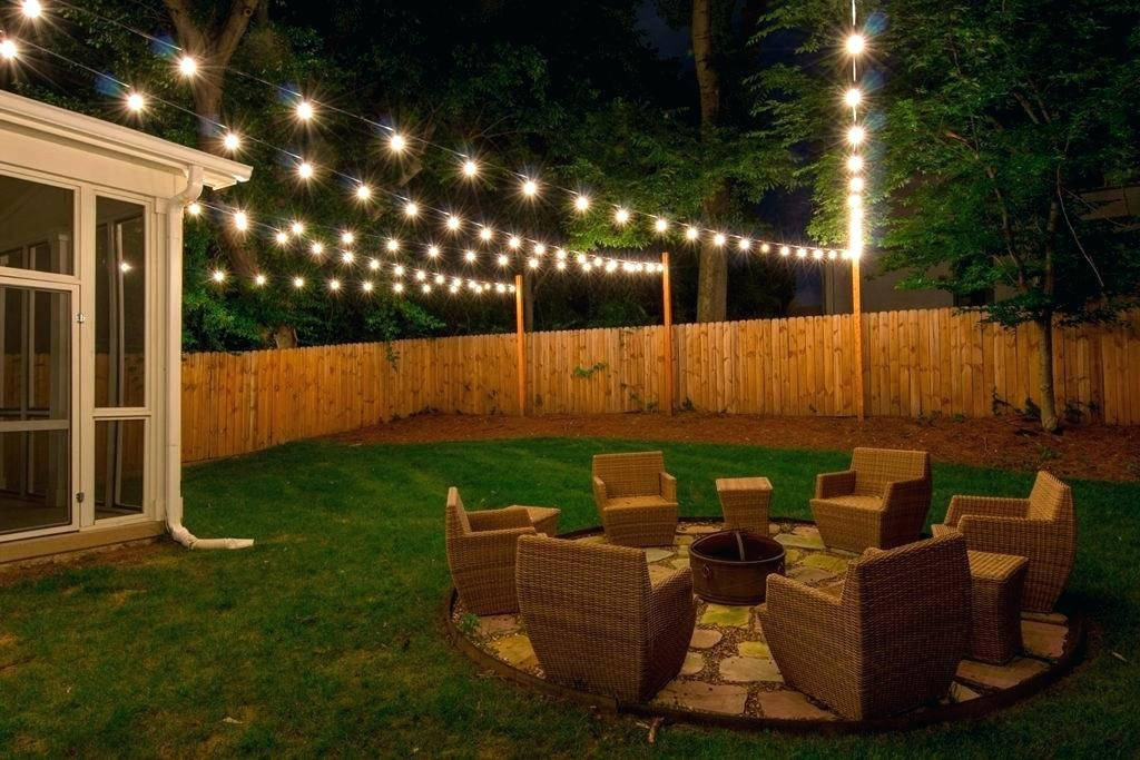 Yard String Lights Backyard Outside For Party Lighting Ideas A With Regarding Hanging Outdoor Lights In Backyard (Photo 7 of 10)