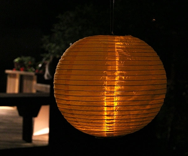 Yellow Outdoor Hanging Lantern Battery Operated 14 Inch – Buy Now Within Outdoor Hanging Lanterns With Battery Operated (Gallery 4 of 10)