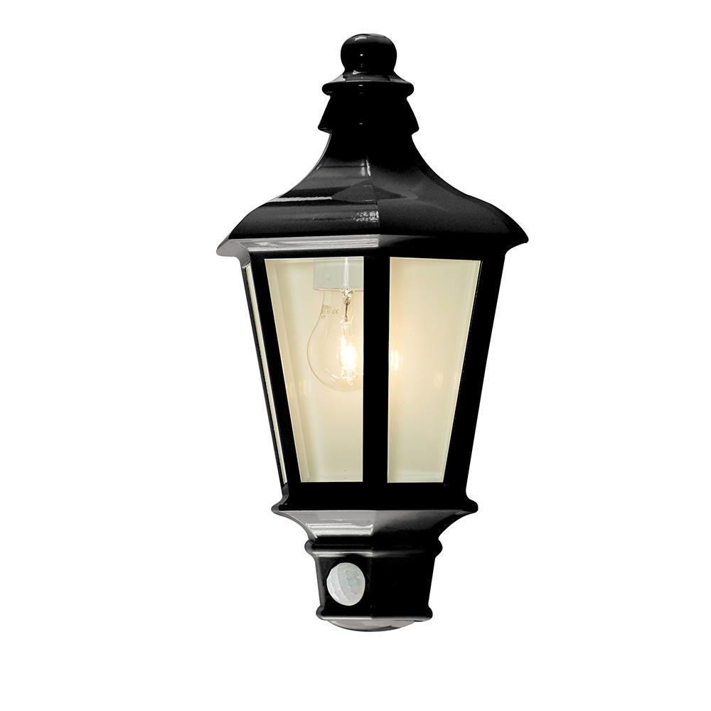 1 Light Outdoor Wall Half Lantern Garden Pir Motion Sensor inside Outdoor Pir Lanterns (Image 1 of 20)