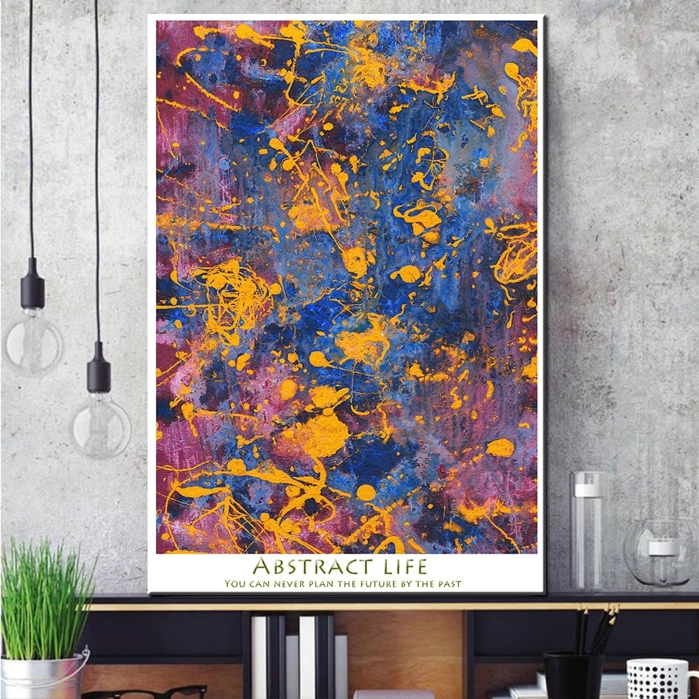 1 Pcs Abstract Graffiti Canvas Print Painting Modern Colorful Wall with Colorful Wall Art (Image 1 of 20)