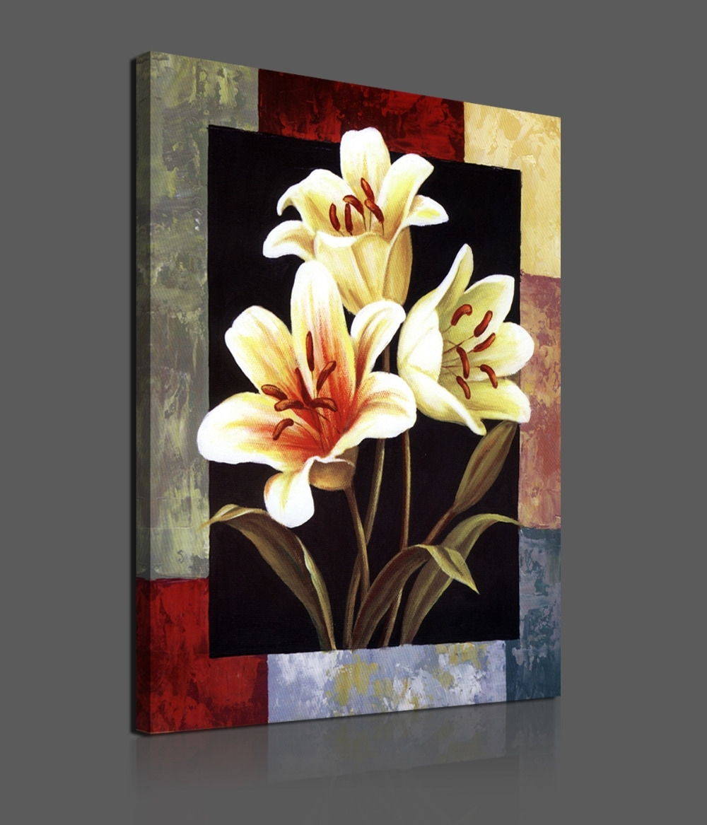 1 Pieces Modern Canvas Painting Flowers Home Decoration Wall Art Hd pertaining to Modern Painting Canvas Wall Art (Image 1 of 20)