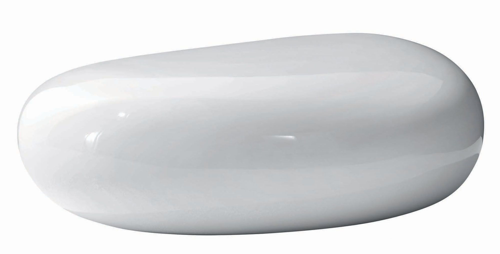 1. White Jelly Bean Coffee Table. 2. Smooth White Stone Coffee Table with regard to Jelly Bean Coffee Tables (Image 1 of 30)