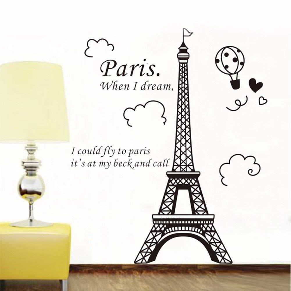 1 X Eiffel Tower Diy Removable Art Vinyl Wall Sticker Decor Mural Regarding Eiffel Tower Wall Art (Gallery 2 of 20)