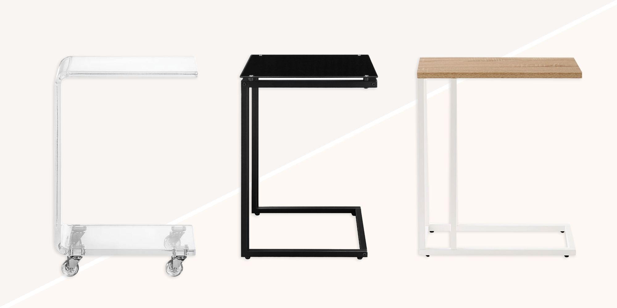 10 Best C Tables For Your Living Room 2018   C Shaped End And Side Throughout Peekaboo Acrylic Tall Coffee Tables (Photo 29 of 30)