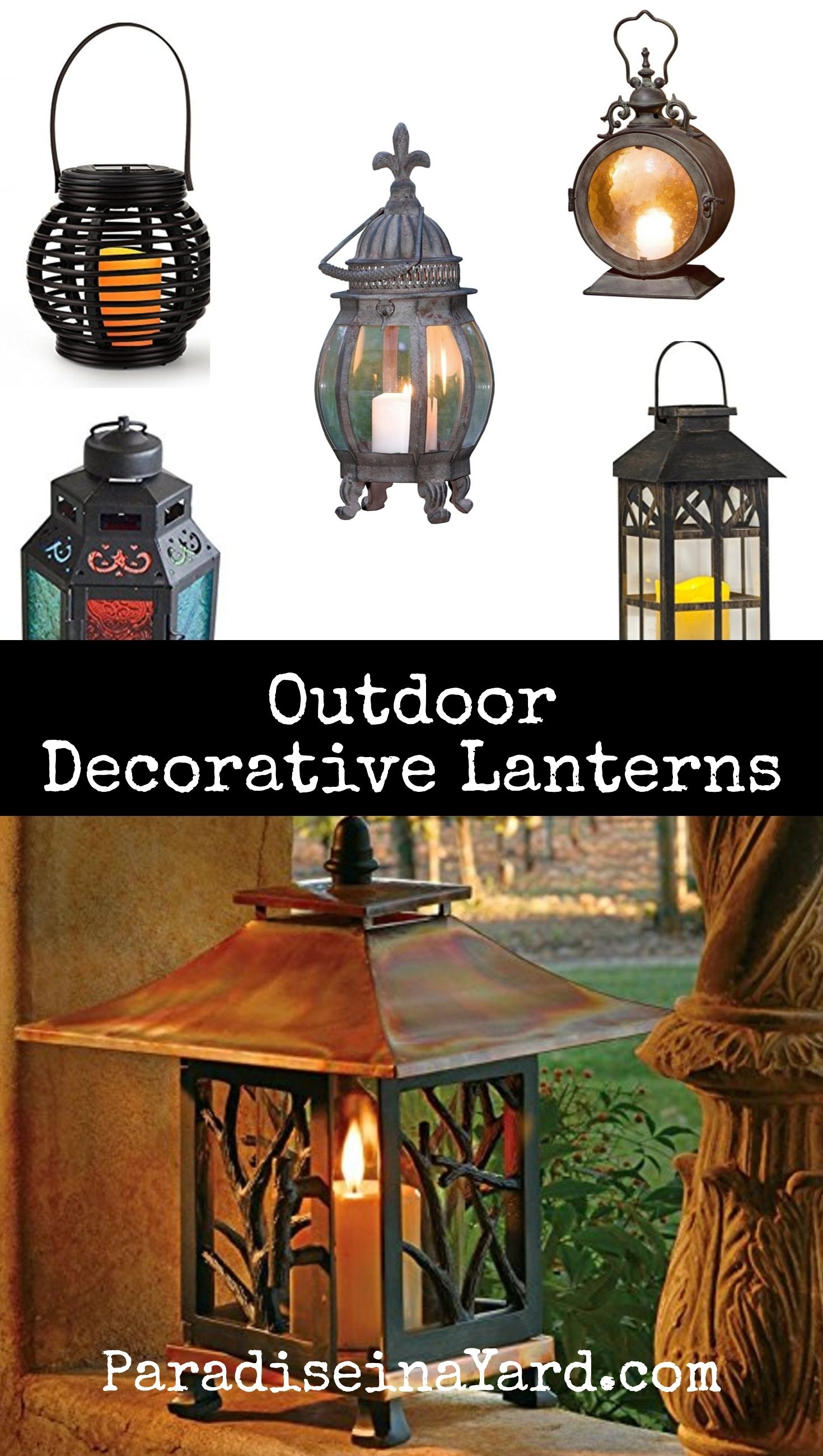 10 Decorative Lanterns For Outdoor Decor Ideas – Patio, Porch, Deck Pertaining To Outdoor Lanterns For Porch (View 1 of 20)