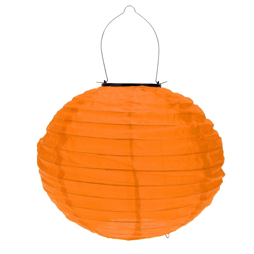 10 Inch Orange Waterproof Solar Lantern Outdoor Garden Led Chinese regarding Outdoor Orange Lanterns (Image 1 of 20)