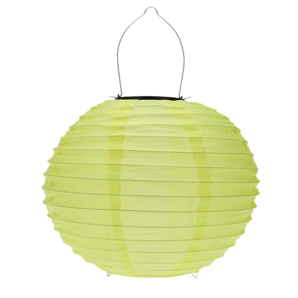 10 Inch Yellow Waterproof Solar Lantern Outdoor Garden Led Chinese throughout Yellow Outdoor Lanterns (Image 1 of 20)