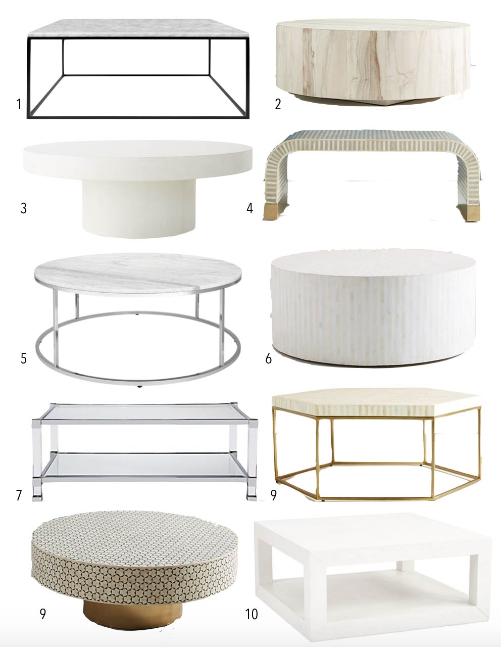 10 Light And White Coffee Tables • Thestylesafari Pertaining To Shroom Large Coffee Tables (Gallery 28 of 30)