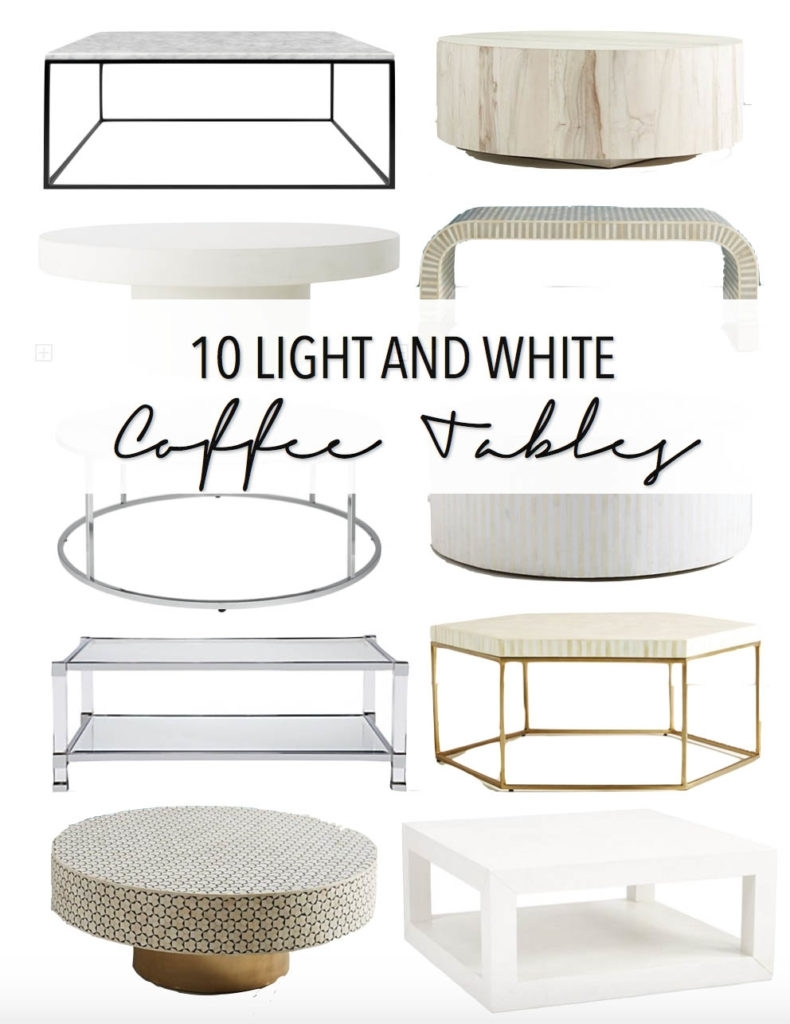 10 Light And White Coffee Tables • Thestylesafari Pertaining To Shroom Large Coffee Tables (View 1 of 30)
