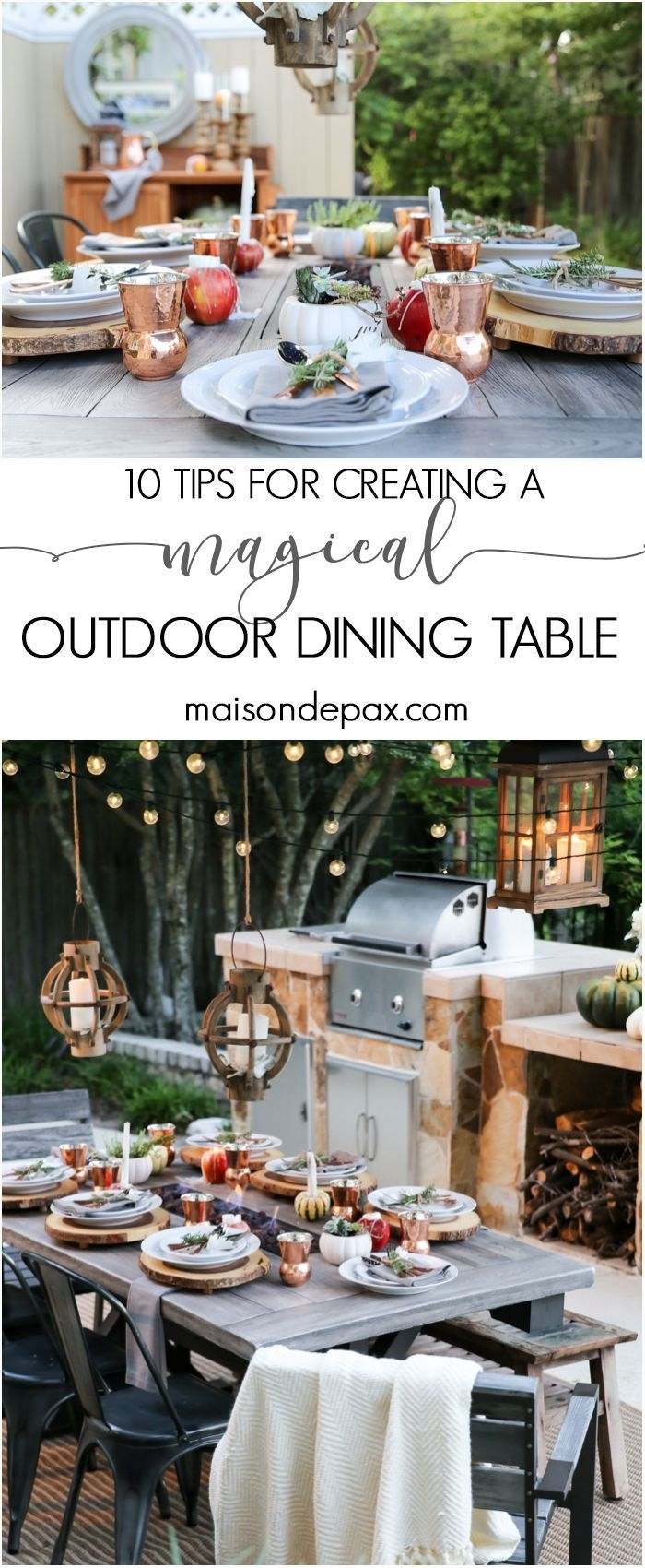 10 Steps To A Magical Outdoor Dining Table | Blogger Home Projects With Regard To Outdoor Dining Lanterns (Gallery 12 of 20)