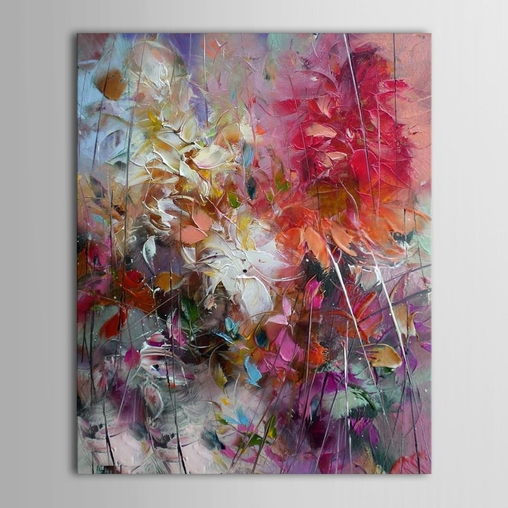 100% Hand Painted Oil Painting Abstract On Canvas Wall Art For Home regarding Abstract Oil Painting Wall Art (Image 1 of 20)