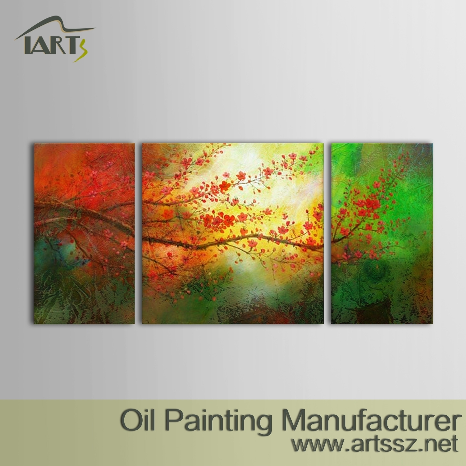 100% Handmade Abstract Oil Painting - Iarts - Professional Wall Art regarding Abstract Oil Painting Wall Art (Image 2 of 20)