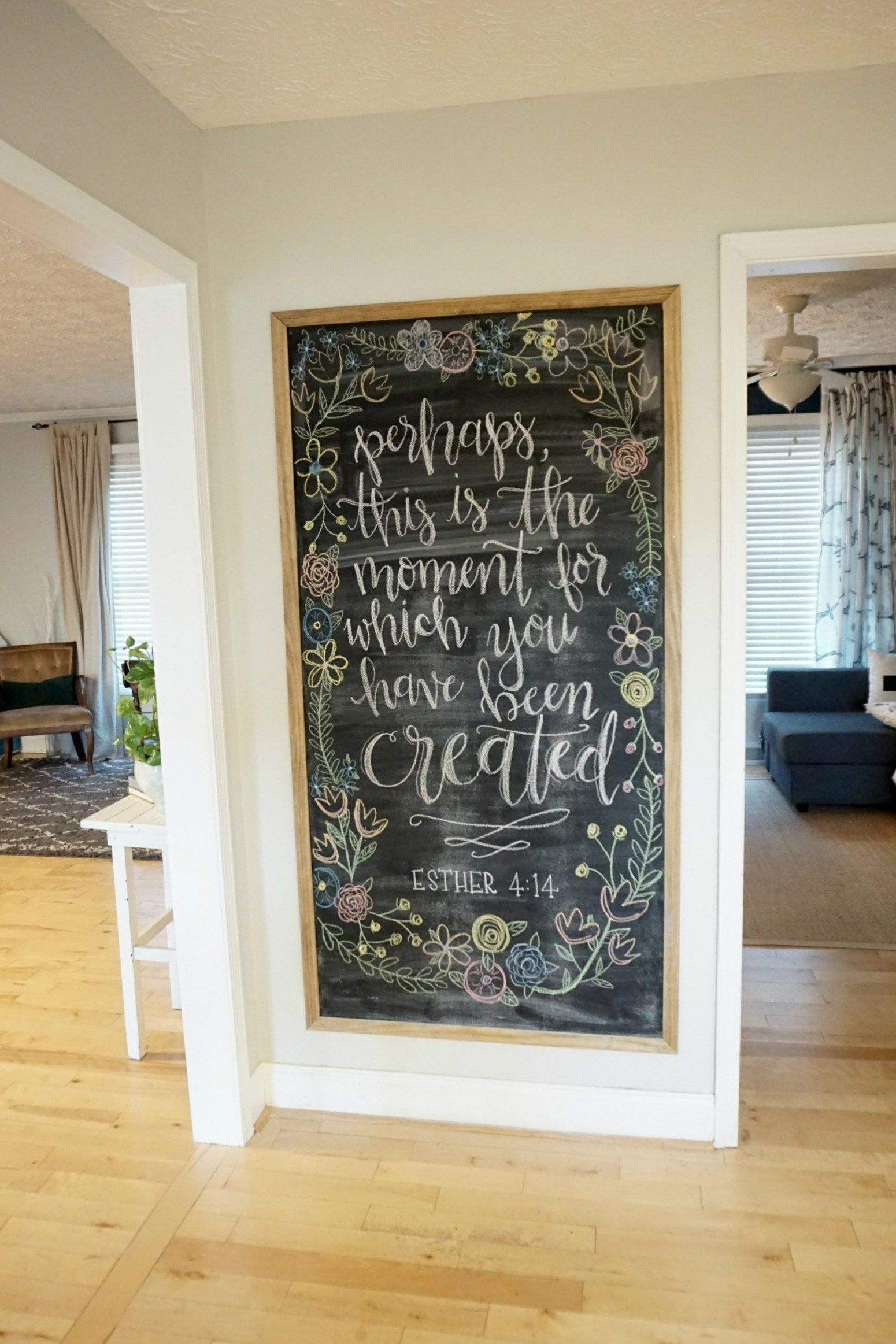 12 Affordable Ideas For Large Wall Decor | Chalkboard Inspirations In Wall Art Ideas For Living Room (Gallery 16 of 20)