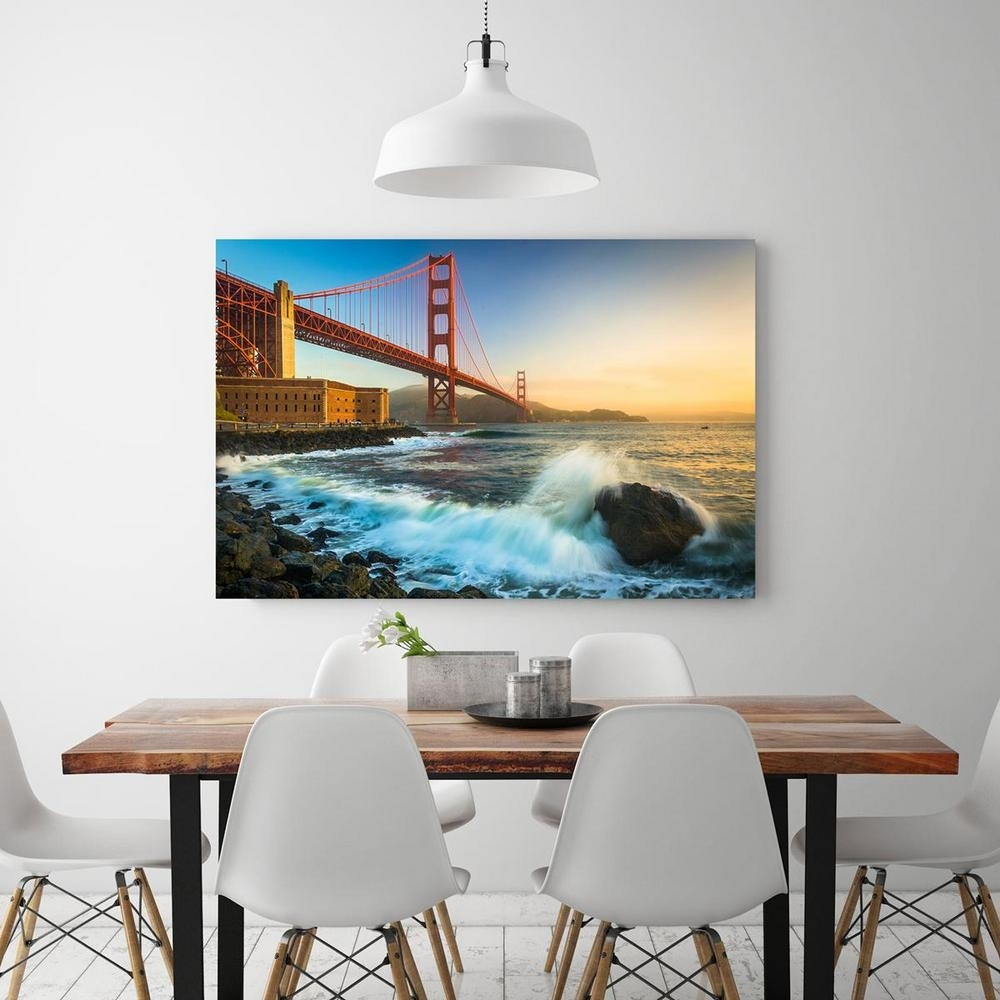 "12 In. X 18 In. ""the Golden Gate Bridge In San Francisco, California with regard to California Wall Art (Image 1 of 20)"